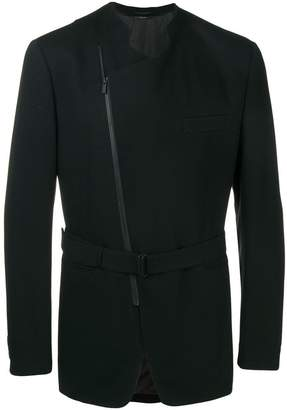 Issey Miyake asymmetric zip front jacket