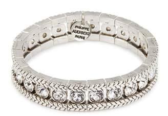 Philippe Audibert 'Lilas' Swarovski crystal braid effect elastic bracelet