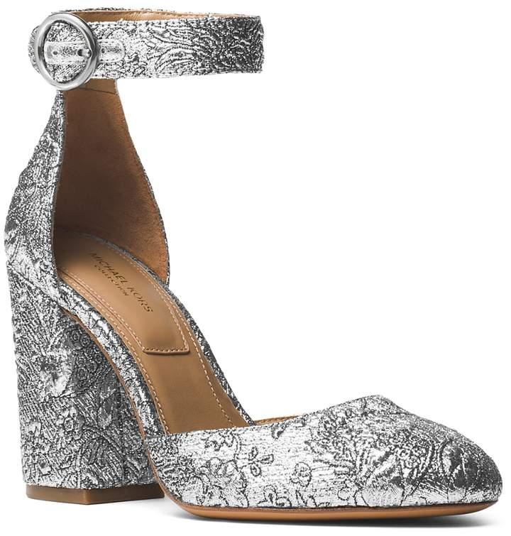 Michael Kors Women's Rena Brocade Ankle Strap Pumps