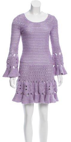 MICHAEL Michael KorsMichael Kors Collection Open Knit Crochet Dress