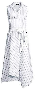 Lafayette 148 New York Women's Dandy Striped Sleeveless Shirt Dress