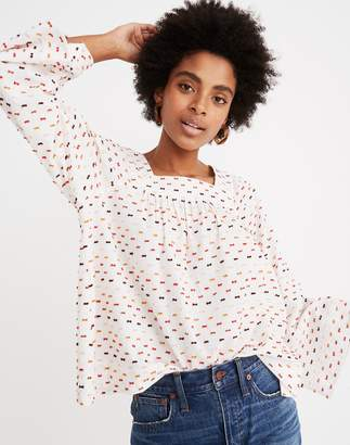 Madewell Square-Neck Top in Clipdot