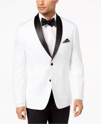 Alfani Men's Slim-Fit White Floral Dinner Jacket, Created for Macy's