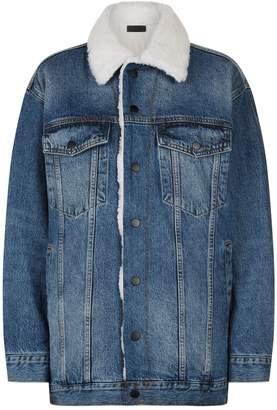 Alexander Wang Oversized Shearling Denim Jacket