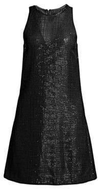 Emporio Armani Sleeveless Sequin Shift Dress