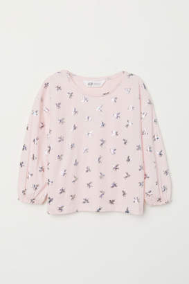 H&M Top with Motif - Pink