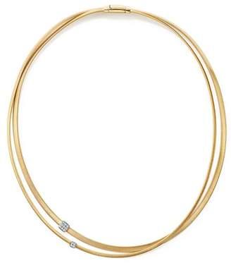 "Marco Bicego 18K Yellow Gold Masai Two Strand Diamond Necklace, 17"""