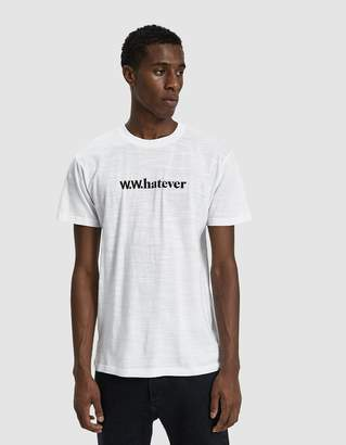Wood Wood S/S Perry T-Shirt in Bright White
