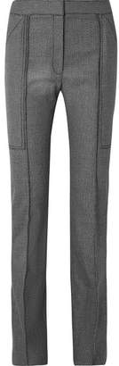 Stella McCartney Wool And Cotton-blend Straight-leg Pants - Dark gray