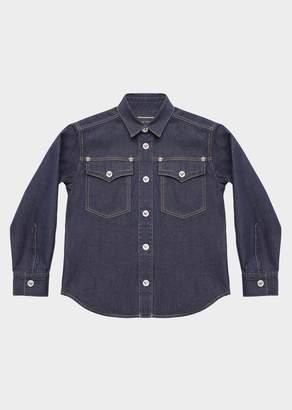 Versace Denim Button Up Shirt