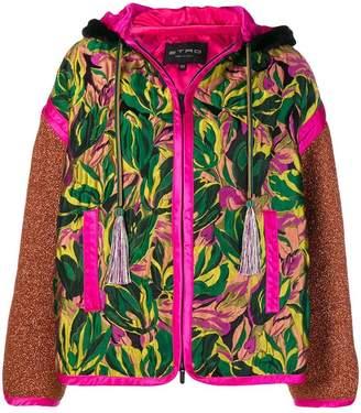 Etro hooded patchwork jacket