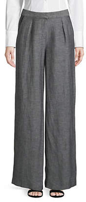 Halston H Straight Wide-Leg Trousers