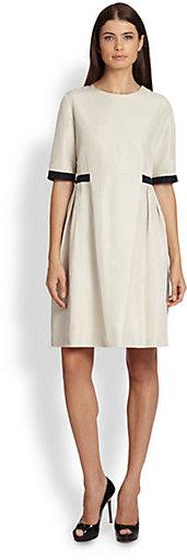 Max Mara Cantone Elbow-Sleeve Taffeta Dress