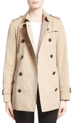 Women's Burberry Kensington Short Trench Coat $1,695 thestylecure.com