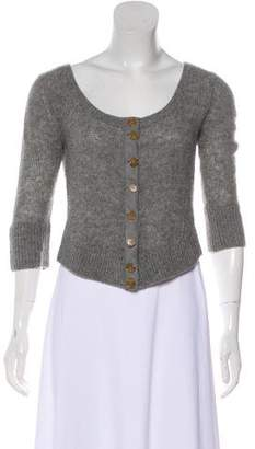 Marc by Marc Jacobs Wool Crop Knit Cardigan