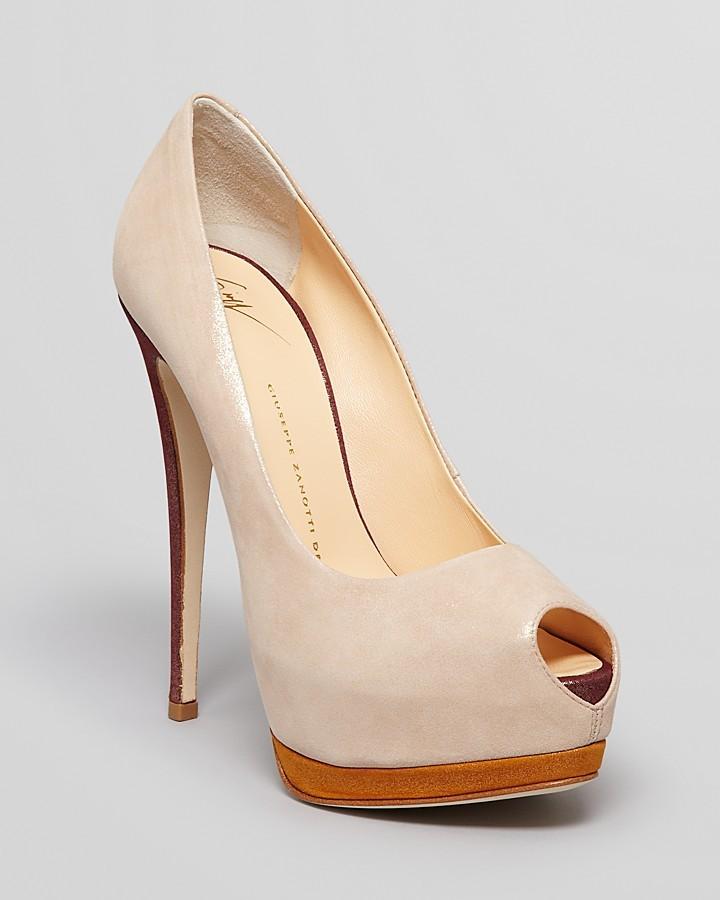 Giuseppe Zanotti Peep Toe Platform Pumps - Sharon High Heel