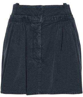 J.W.Anderson Gathered Cotton-Canvas Mini Skirt
