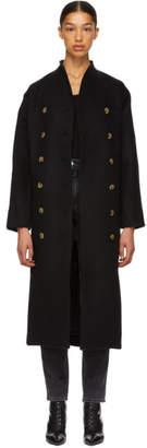 Totême Black Wool Bergerac Coat