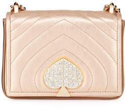 Kate Spade Amelia Small Jeweled Leather Shoulder Bag