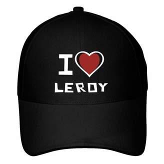 Leroy Idakoos I Love Bicolor Heart - Male Names - Baseball Cap