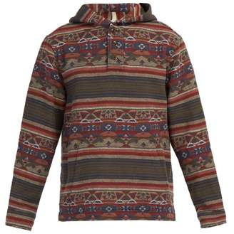 Faherty Pacific Cotton Hooded Sweatshirt - Mens - Grey Multi