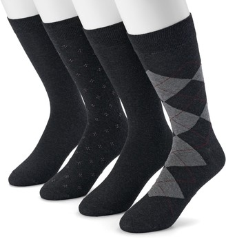 Dockers Men's 4-pack Argyle, Solid & Patterned Dress Socks