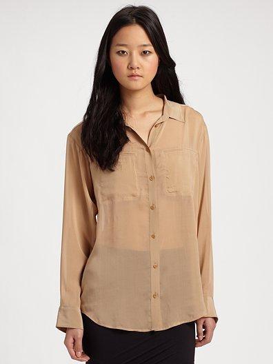 T by Alexander Wang Silk Button-Down Shirt