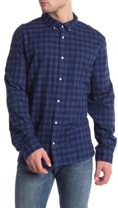 Calvin Klein Indigo Plaid Print Twill Slim Fit Shirt