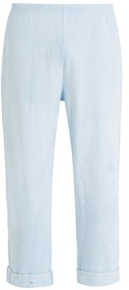 Audrey Louise Reynolds - Elasticated Waist Cotton Track Pants - Mens - Indigo