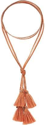 Chan Luu Viscose Chiffon Solid Necktie with Tassels Scarves