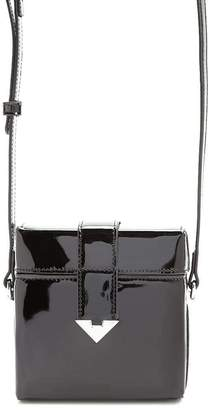 Forever 21 Faux Patent Leather Square Crossbody Bag