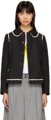 Comme des Garcons Black Trompe lOeil Round Collar Jacket