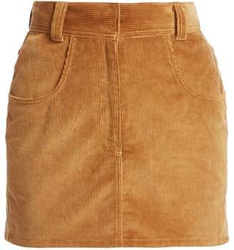 RE/DONE Ultra High-Rise Corduroy Skirt