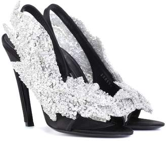 Balenciaga Embellished satin sandals