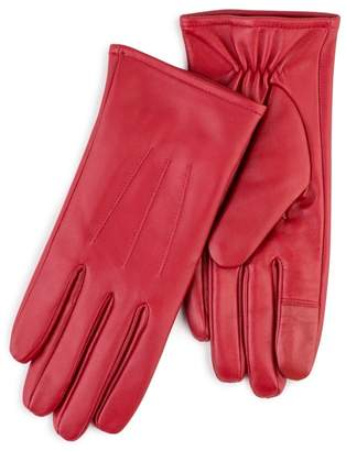 totes Red Leather Gloves With Smart-Touch