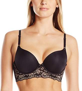 Lily of France Women's Sensational Lace Mid-Line Push Up Bra 2175221 $18 thestylecure.com