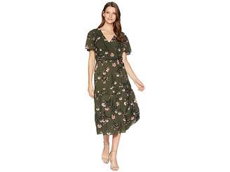 Lauren Ralph Lauren Walina Marcino Floral Short Sleeve Day Dress