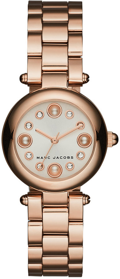 Marc Jacobs Marc Jacobs Women's Dotty Rose Gold-Tone Stainless Steel Bracelet Watch 25mm MJ3520