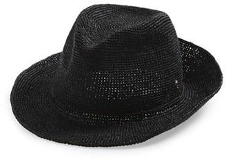 Women's Helen Kaminski Raffia Crochet Packable Sun Hat - Grey $230 thestylecure.com