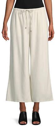Eileen Fisher Silk Noil Cropped Pants