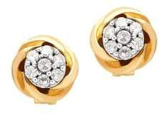 Lord & Taylor Diamond and 14K Yellow Gold Stud Earrings