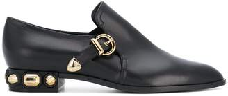 Casadei side buckle loafers