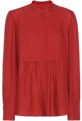 A.P.C. Carousel silk and wool-blend shirt