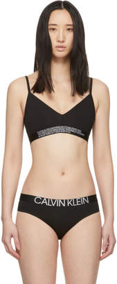 Calvin Klein Underwear Reversible Black Statement Bralette