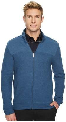 Perry Ellis Textured Knit Jacket Men's Coat