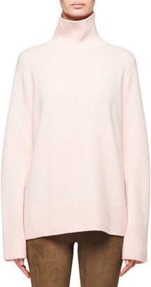 The Row Milina Oversized Wool-Cashmere Turtleneck Sweater