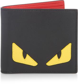 FENDI Bag Bugs bi-fold leather wallet $400 thestylecure.com