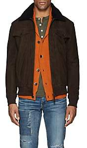 Barneys New York Lot 78 x Men's Sherpa-Trimmed Suede Jacket-Brown