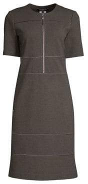 Lafayette 148 New York Demi Zip-Front Shift Dress