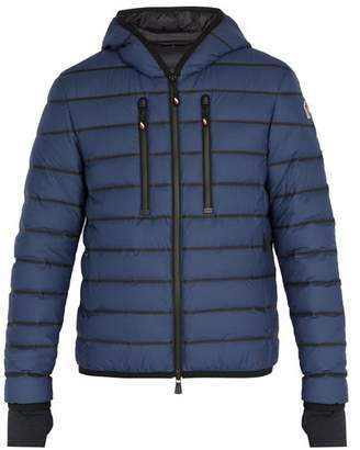 Moncler Emerald Quilted Jacket - Mens - Blue